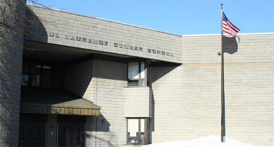 Image of front entrance of Dunbar School