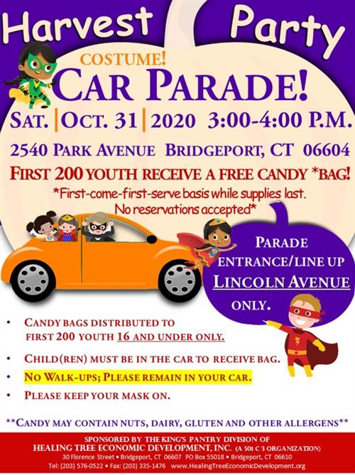 Flyer for Harvest Party Parade