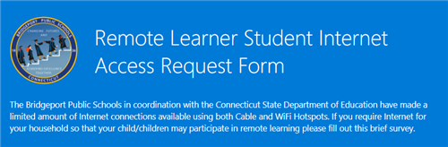 Remote Learner Student Internet Access Request Form