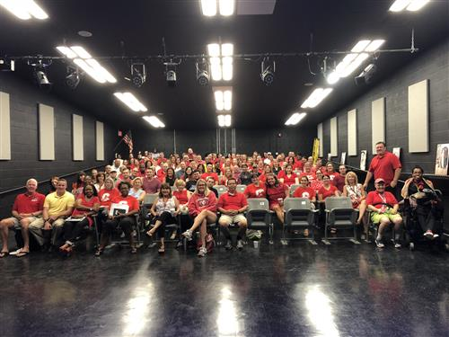 """Sea of Red"" is Ready for 2018-2019 School Year - CHS Teachers"