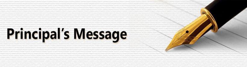 Principals Message / Principal's Message