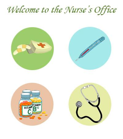 Welcome to the Nurse's Office Logo - Four Images  related to nursing