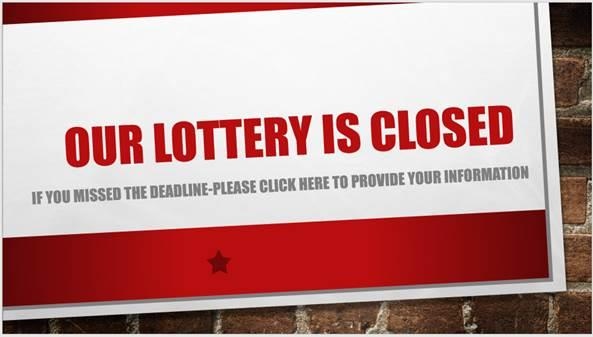 Lottery is Closed