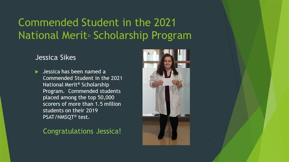 Commended Student in the 2021 National Merit