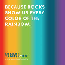 because books show us every color of the rainbow