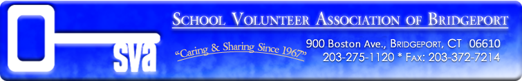 School Volunteer Association of Bridgeport Header image