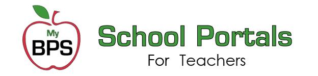MyBPS School Portals for Teachers with Logo of Apple