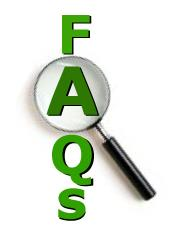 FAQs and Magnify glass