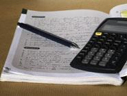 Calculator and math workbook