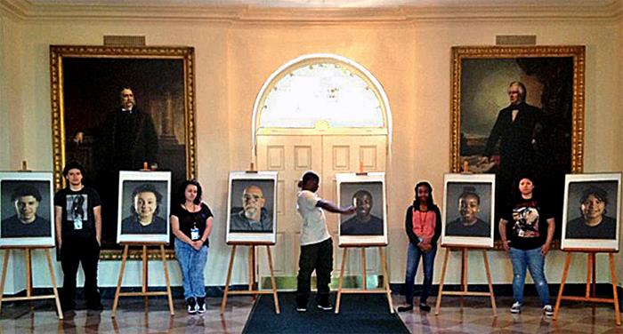 Student Self Portraits at the White House