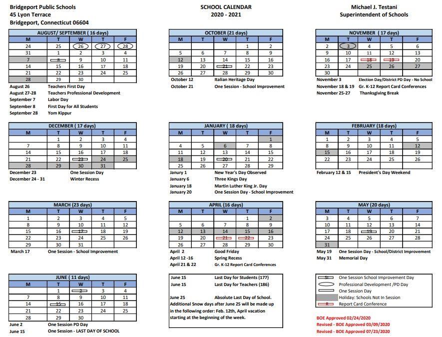 Bps Calendar 2022.District Calendar 2020 2021 District Calendar