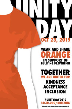Wear Orange t-shirt for Unity Day on Oct. 23.