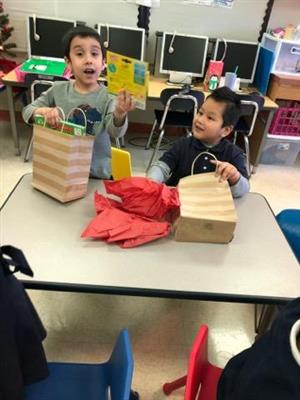 friends opening their gifts together